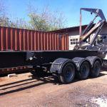 Plaatsing container voor werkplaatsen in Jan Doret en Landhuis Bloemhof (4 september 2014)