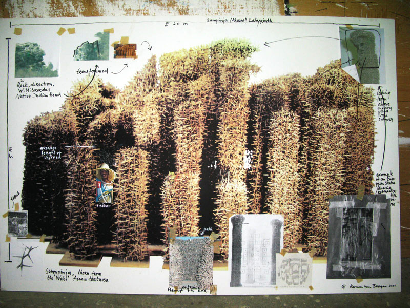 Ontwerp-collage Kathedraal van Doornen (2005)