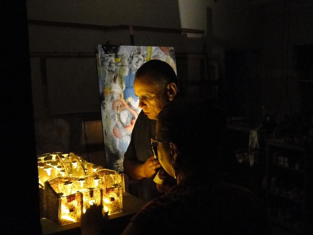 Kunstenaars bijeenkomst proefmuur (2012)