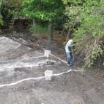 Schoonmaak en uitzetten van lijnen, september 2014