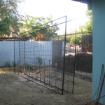 Begin van de bouw in Jan Doret (november 2012)