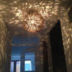 Plafond verlichting van doornen