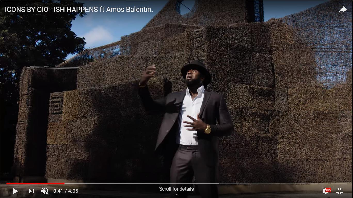 Kathedraal in videoclip van Amos Balentien